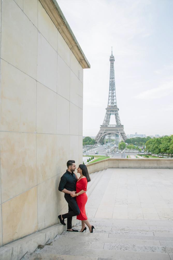 Eiffel Tower sunrise surprise proposal 19