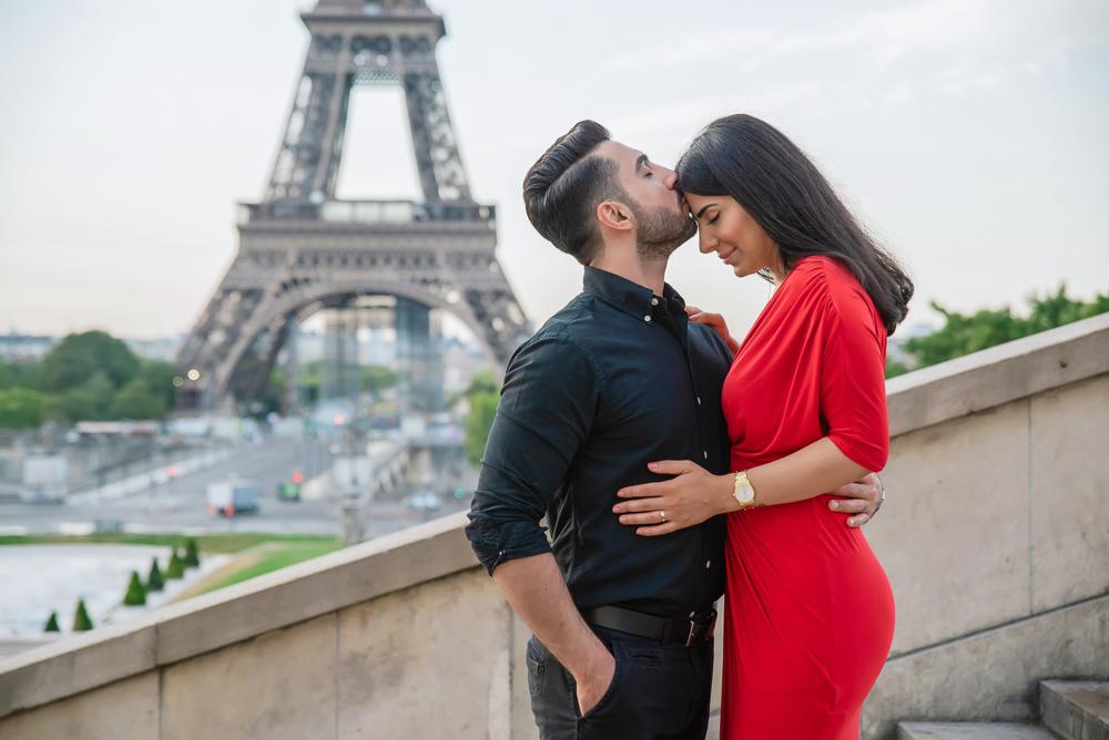 Eiffel Tower sunrise surprise proposal 25