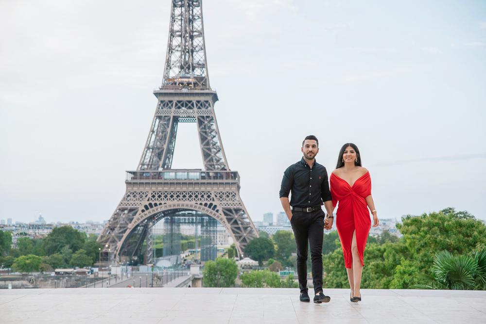 Eiffel Tower sunrise surprise proposal 4