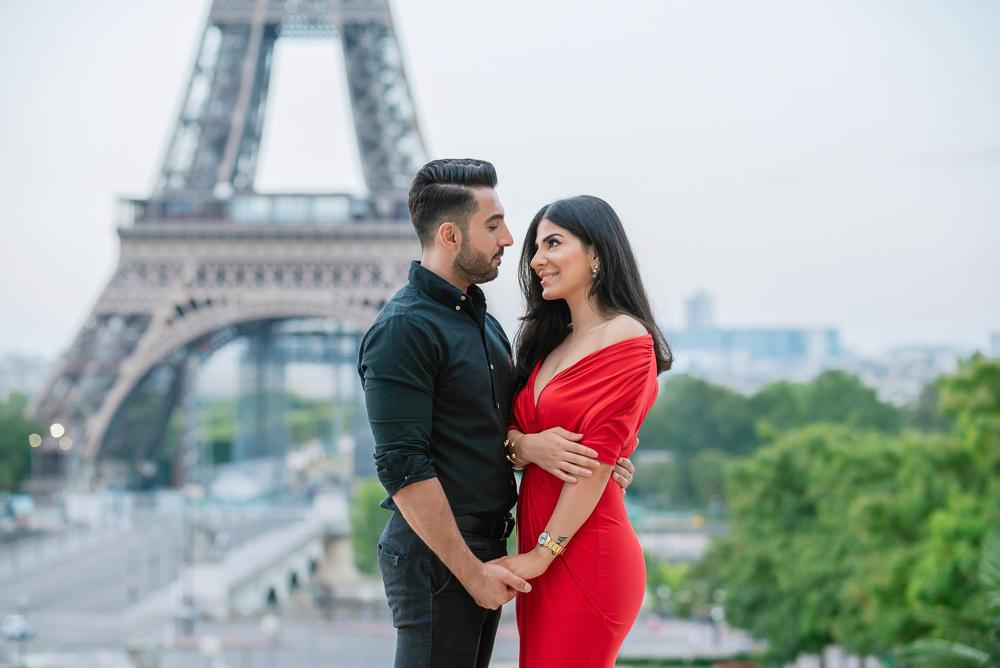 Eiffel Tower sunrise surprise proposal 7