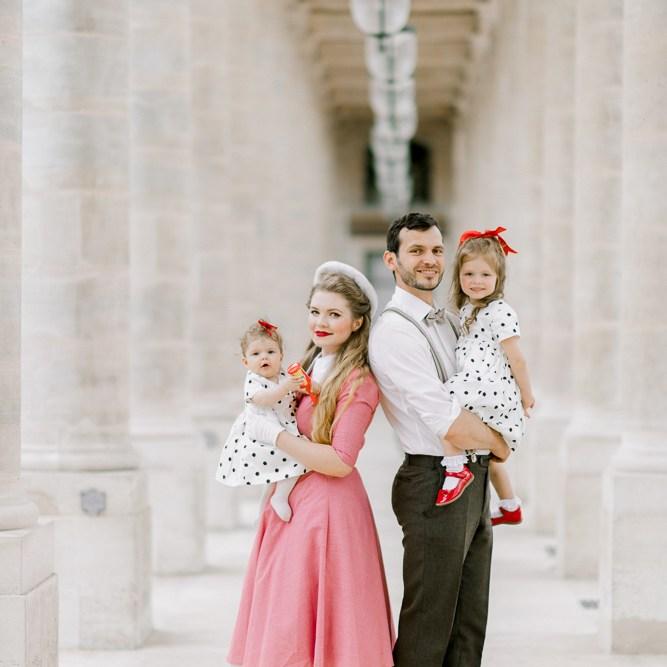 Family photos in Paris at Palais Royal - captured by Odrida Photographer France