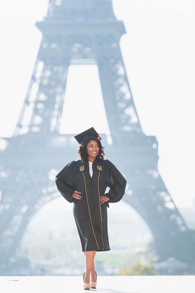 Graduation photos in Paris 7