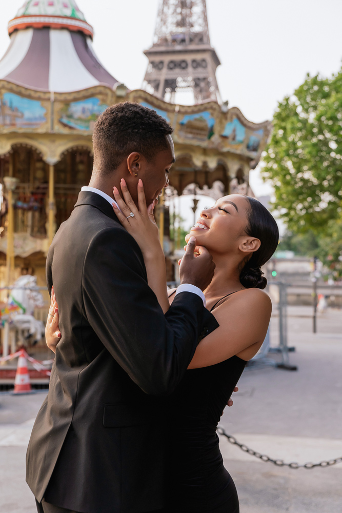 Proposal in Paris Eiffel Tower 19