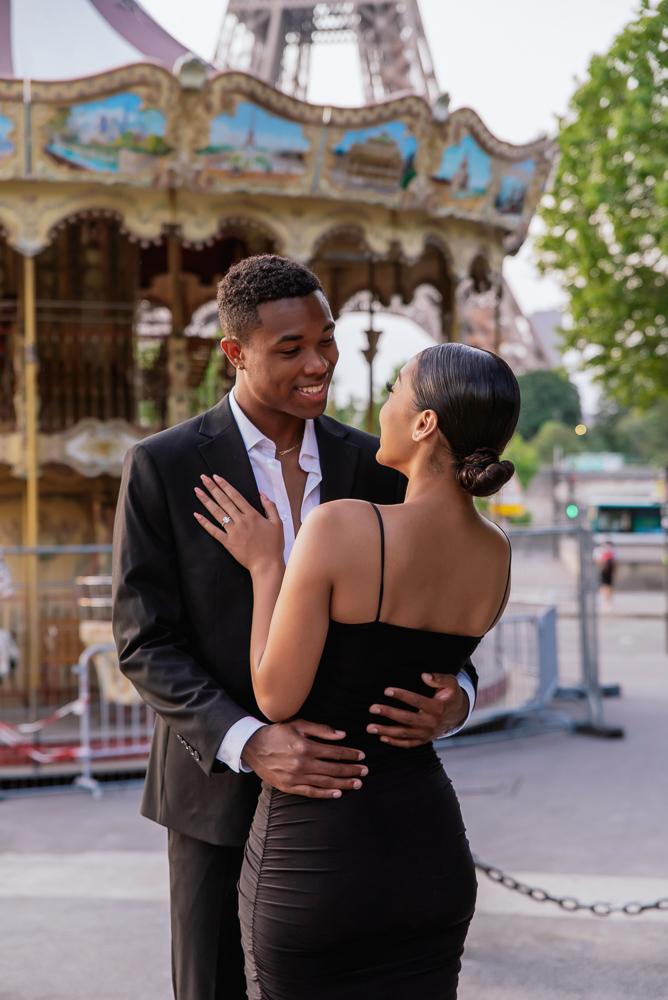 Proposal in Paris Eiffel Tower 20