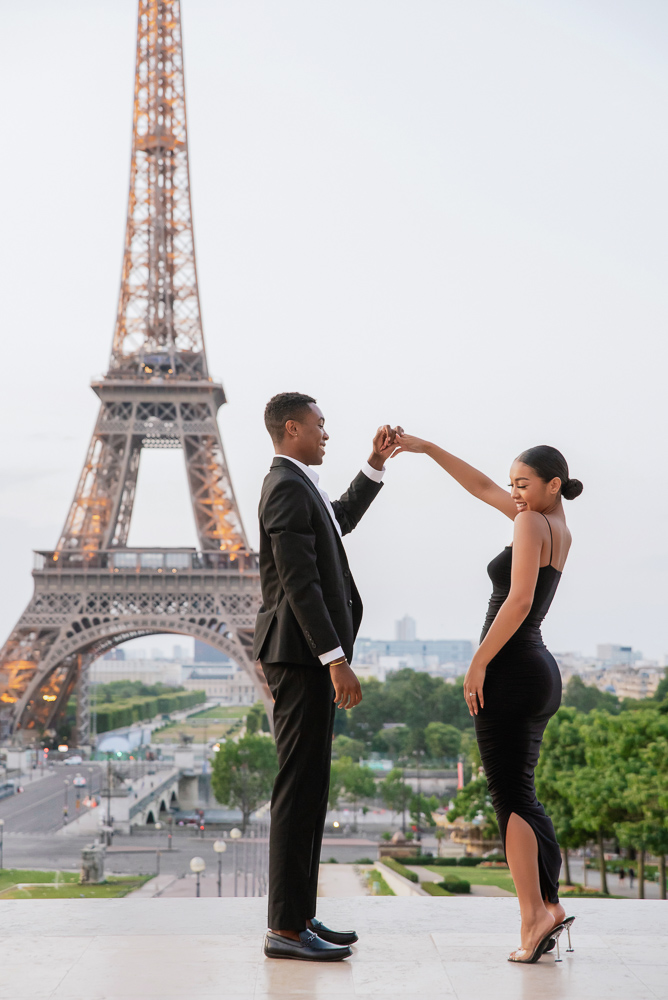 Proposal in Paris Eiffel Tower 7