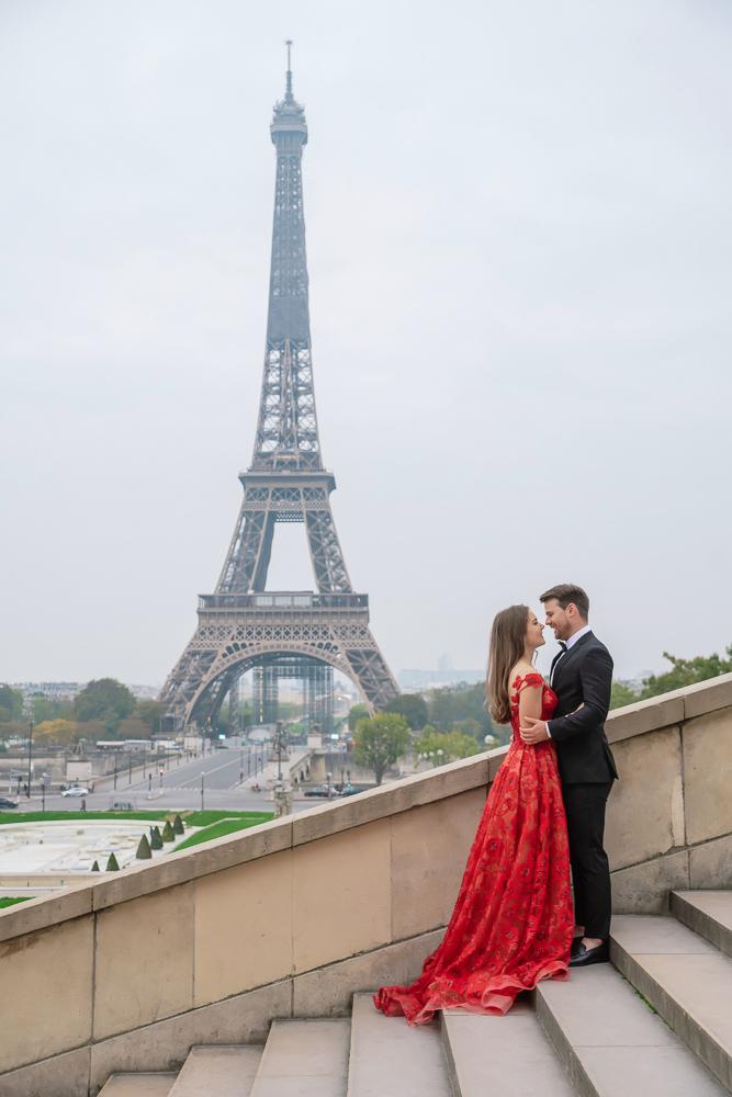 Winter wedding photoshoot in Paris by Pierre 24