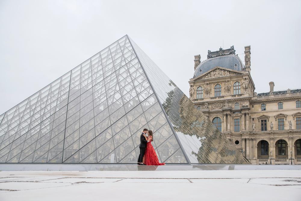 Winter wedding photoshoot in Paris by Pierre 34
