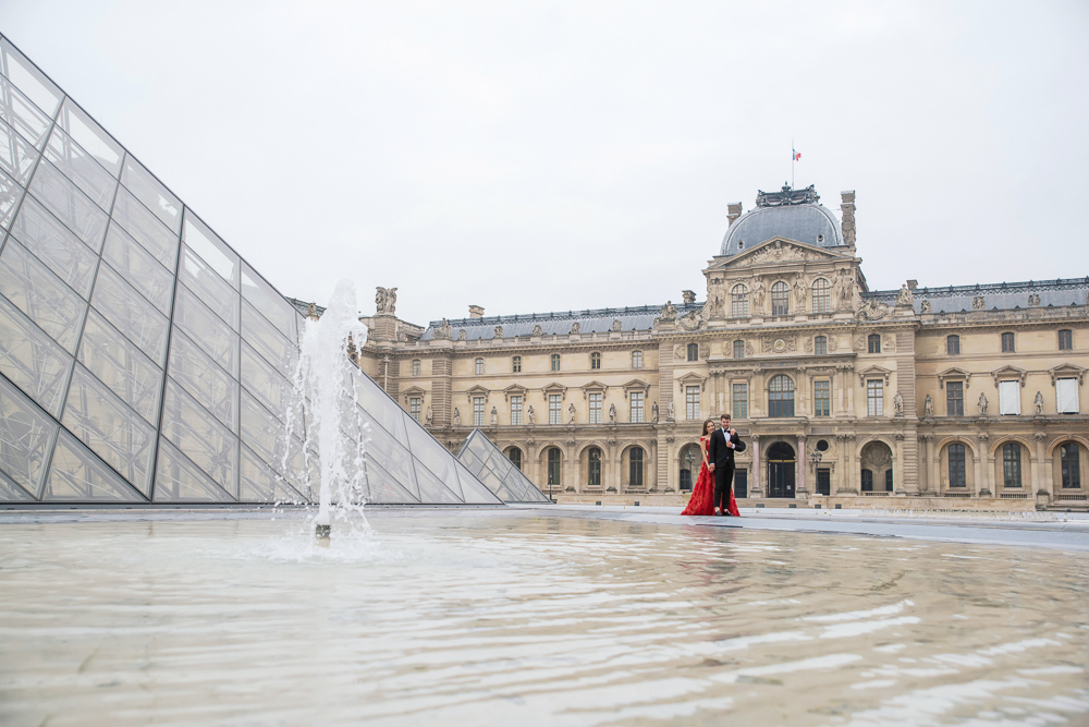 Winter wedding photoshoot in Paris by Pierre 36