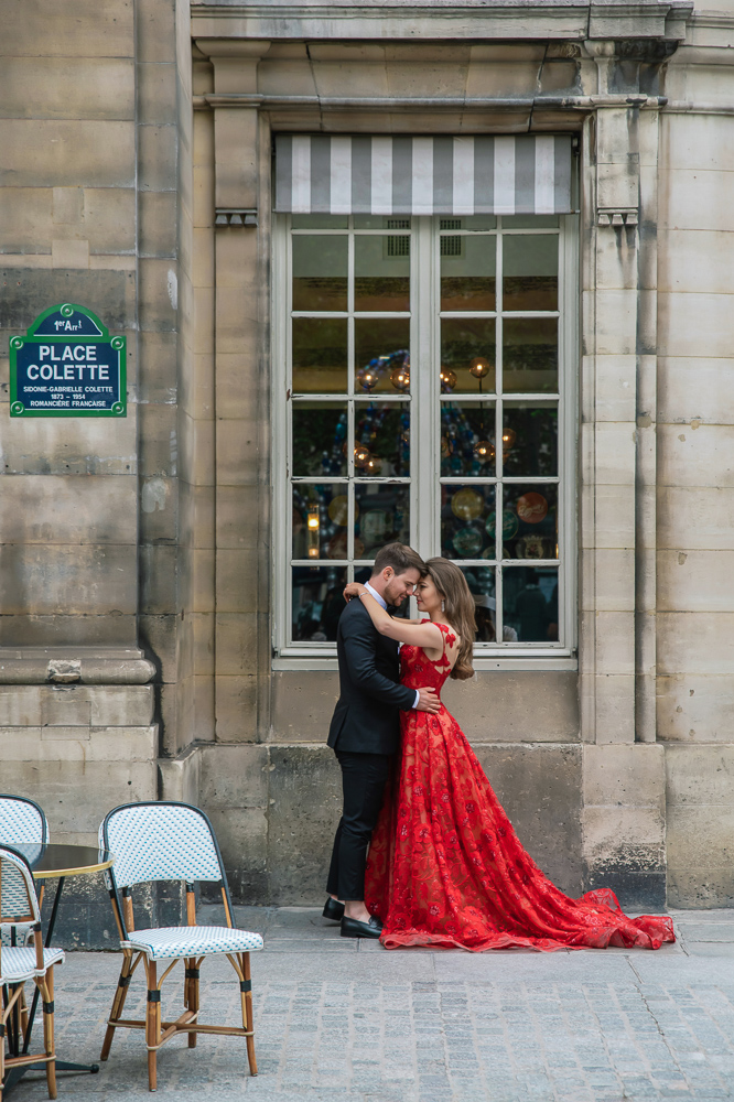 Winter wedding photoshoot in Paris by Pierre 39
