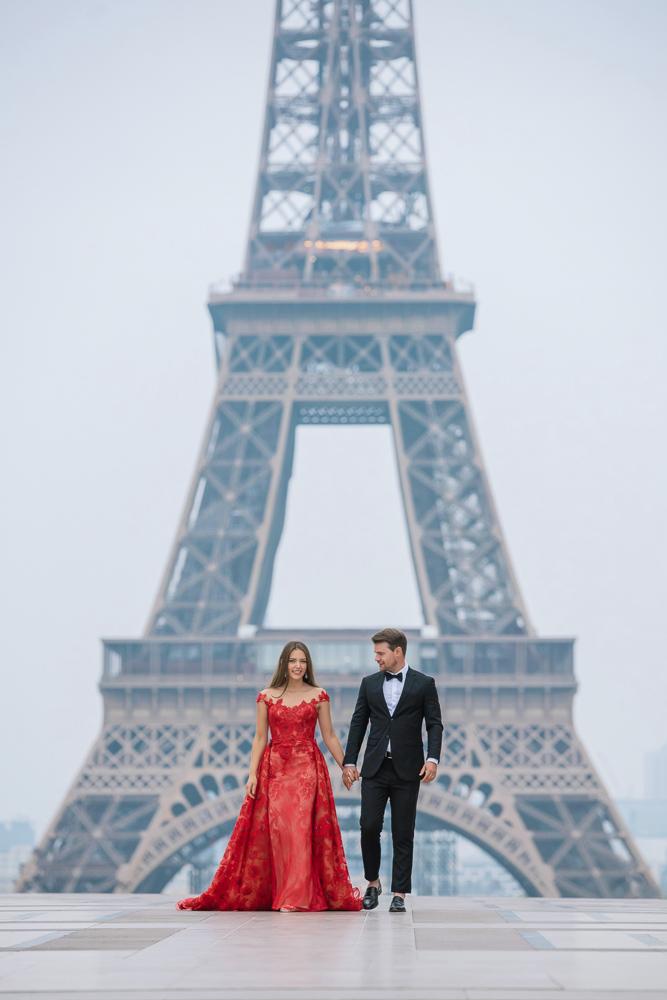 Winter wedding photoshoot in Paris by Pierre 5