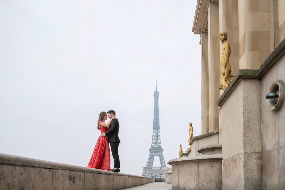 Winter wedding photoshoot in Paris by Pierre 7