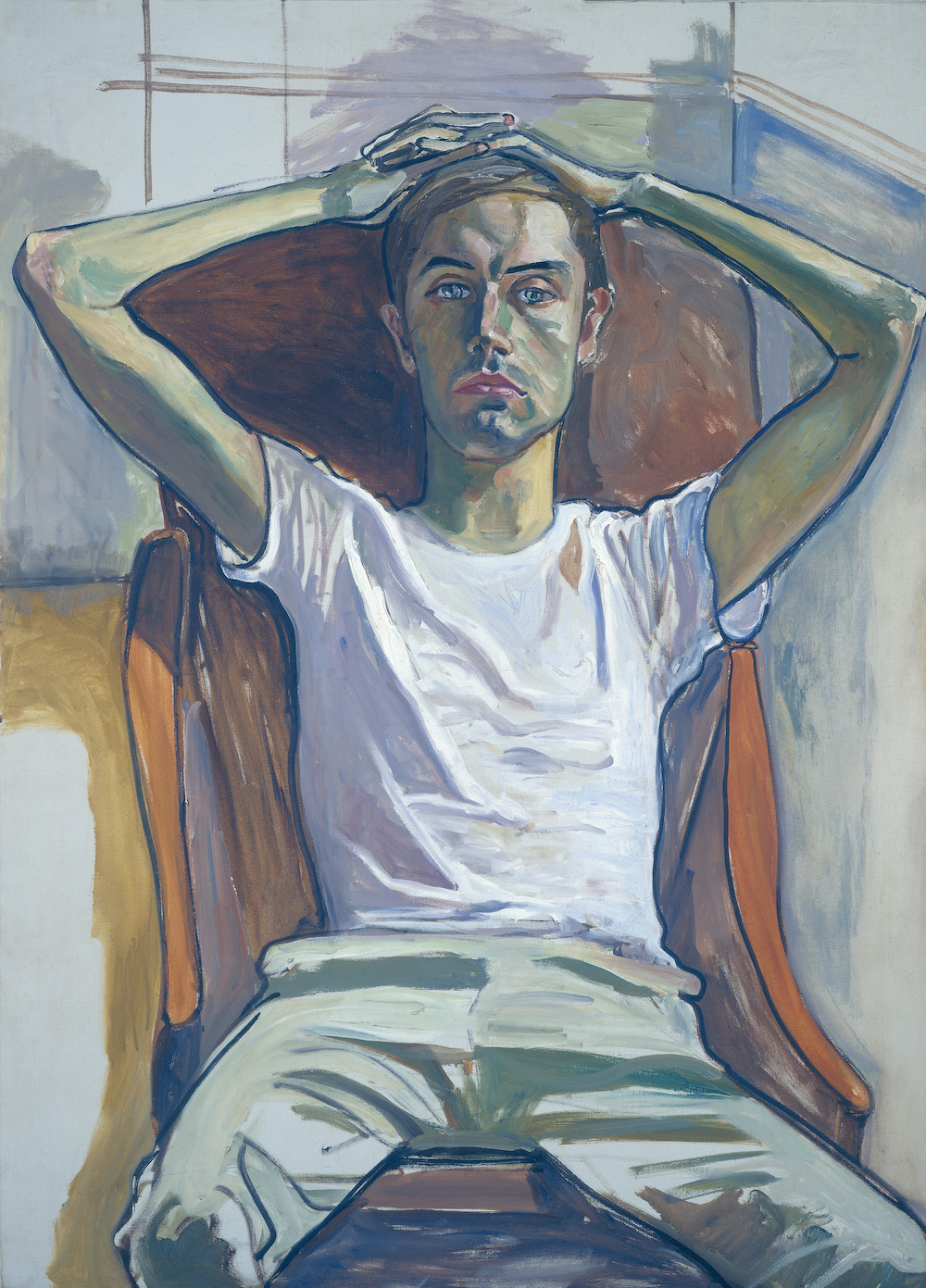 Alice Neel, Hartley, 1966, oil on canvas, 50 × 36″. National Gallery of Art, Washington, D.C. Gift of Arthur M. Bullowa, in honor of the fiftieth anniversary of the National Gallery of Art. © The Estate of Alice Neel.