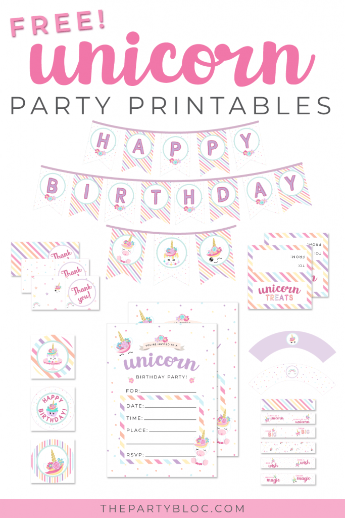 magical free unicorn party printables