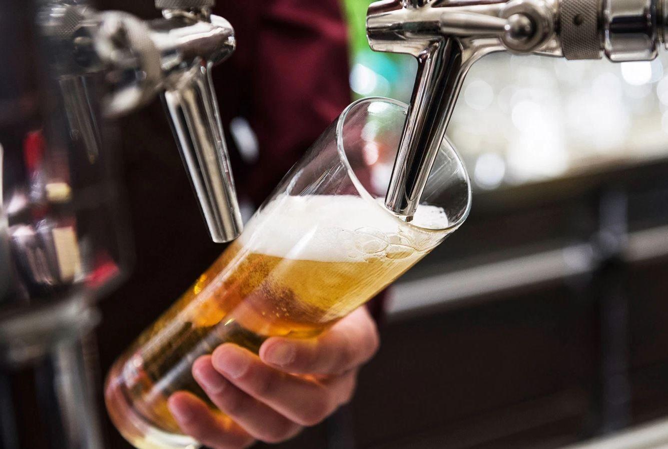 pilsner beer on draught