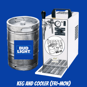 Bud LIght Keg and Cooler Bundle