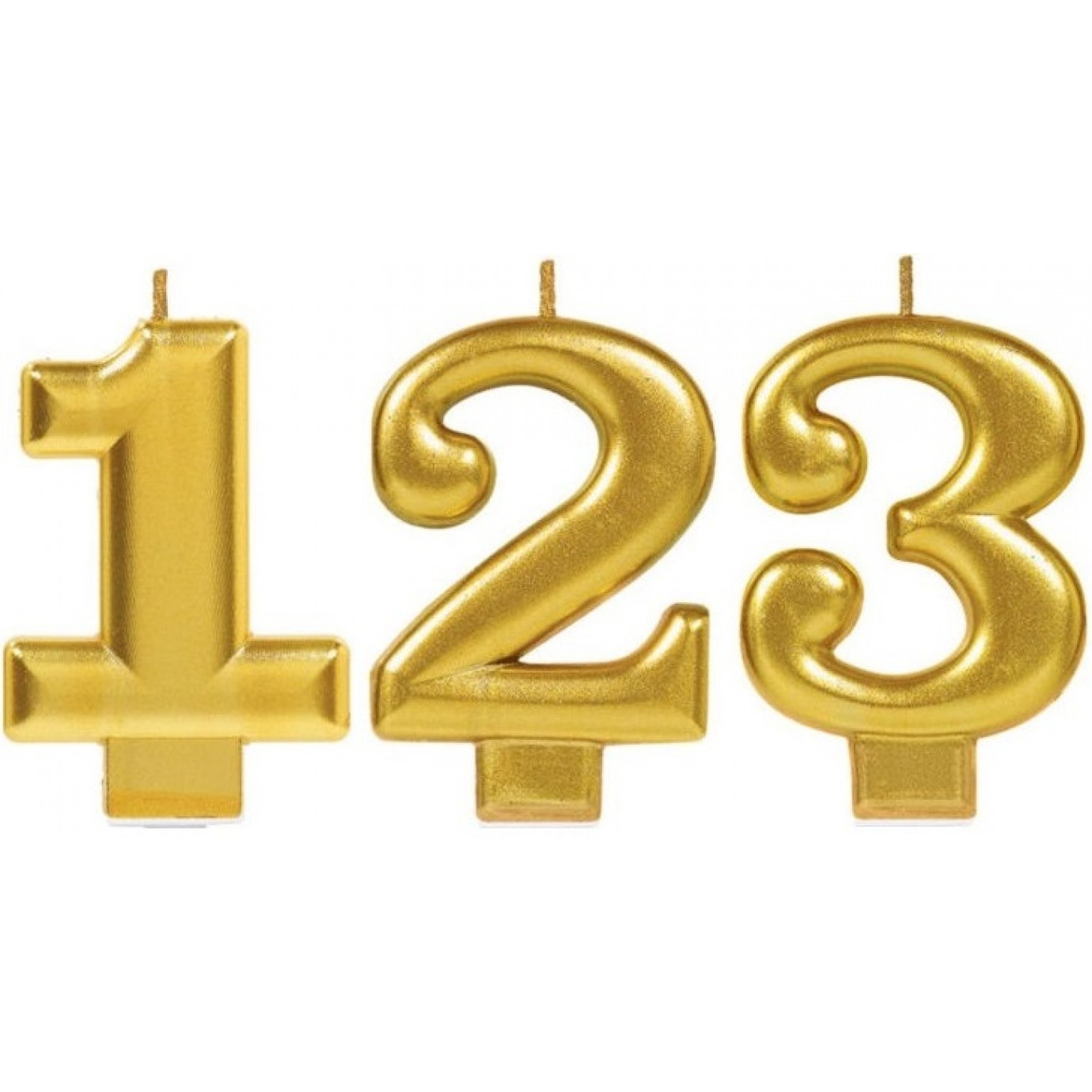 Candle Number Gold Metallic Birthday Cake Candles Baking By Accessories Catering Supplies Party Supplies The Party People Shop