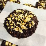 Flourless Chocolate and Salted Peanut Biscuits