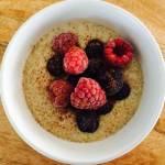 Quinoa Coconut Milk Porridge (gluten free, diary free, nut free)