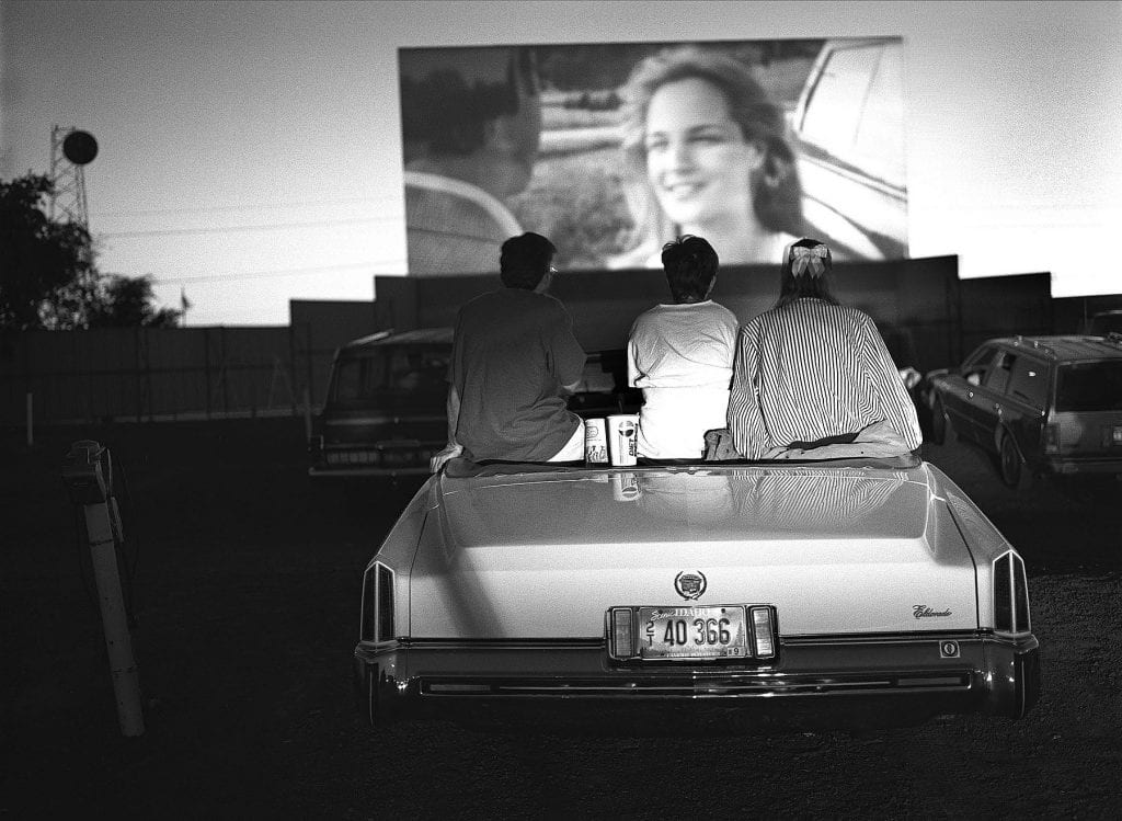 "A drive-in theatre in Twin Falls, Idaho. From ""America at the Edge."" © Steve Simon"