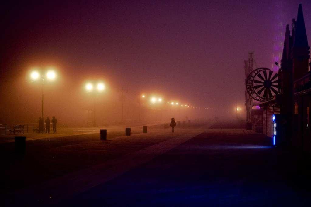 Today's Photo – Foggy Coney Island Boardwalk