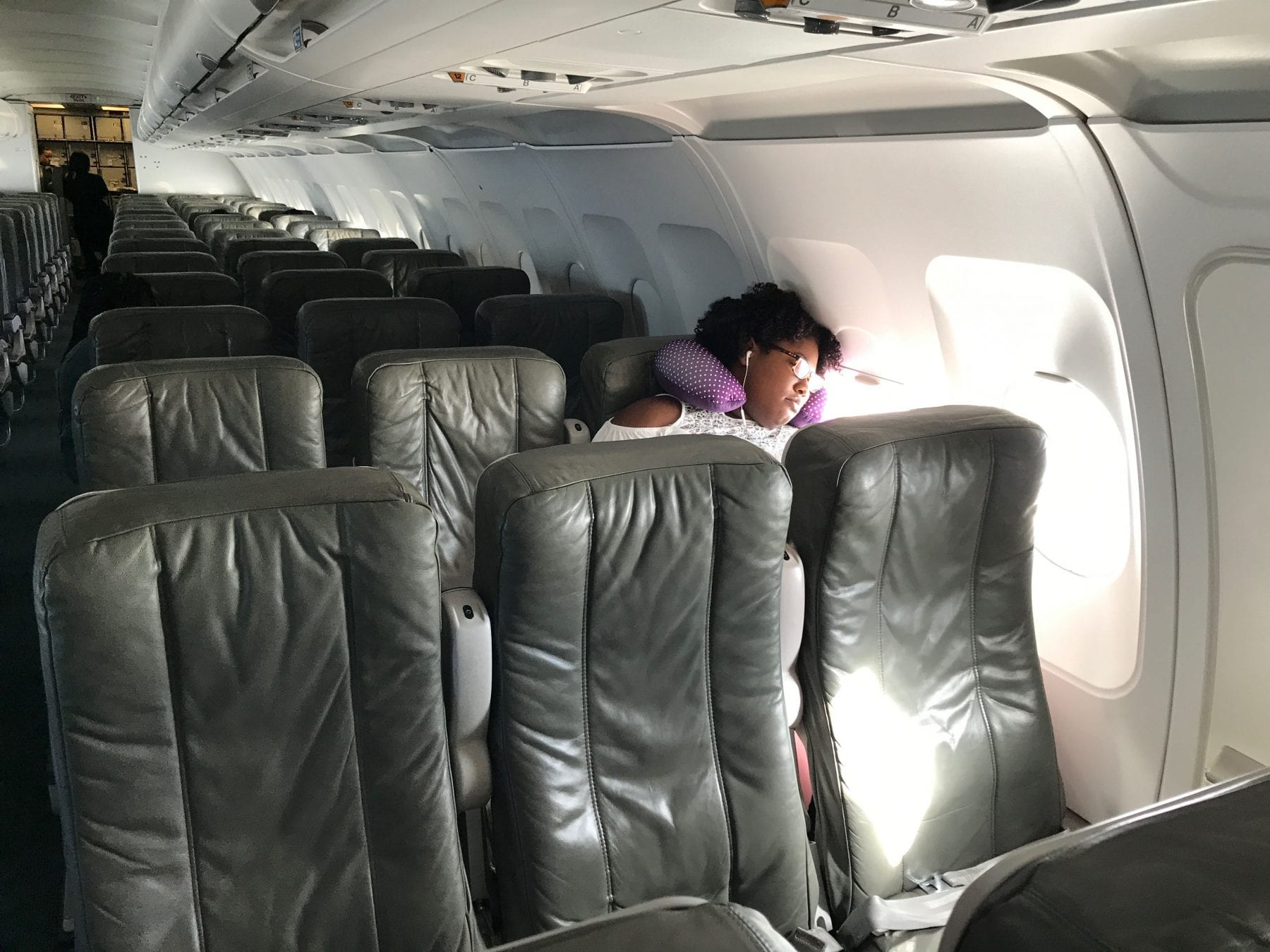 This was my JetBlue flight from JFK in New York to Havana. Not quite a private jet but only a handful of the seats were filled. The travel warning was definitely having an affect.