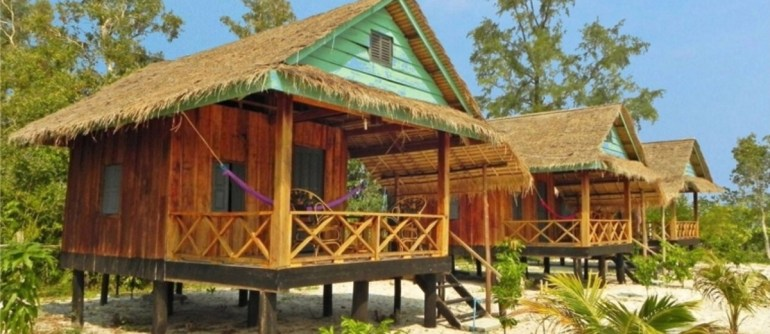 Where to stay in Cambodia - Palm Beach Bungalows