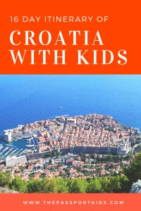 16 Day Itinerary of Croatia with Kids