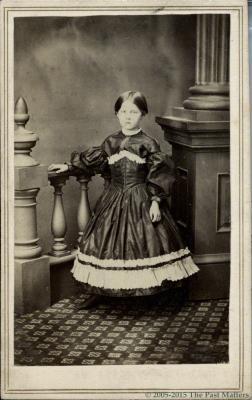 """Frances L. """"Fannie"""" (Thompson) Mayhew about 1862"""