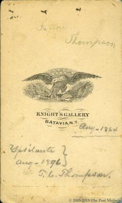 Torrey C. Thompson in August 1864