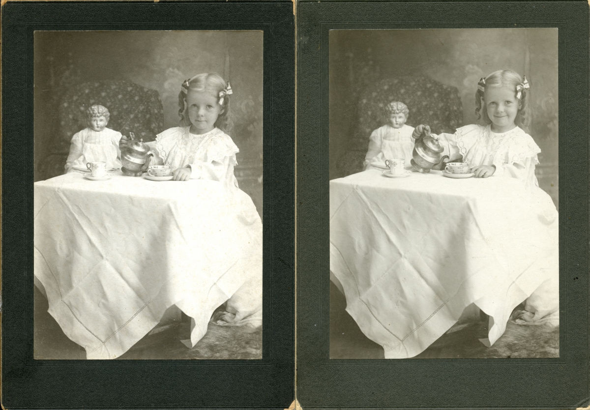 Two photographs of Dana Margaret Williams