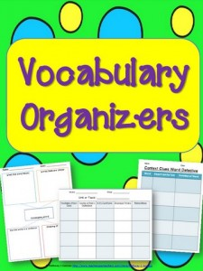 Graphics Organizers for Vocabulary