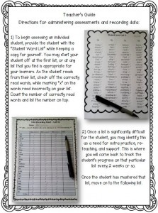 Assessing Sight Words