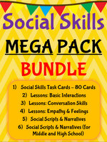 Social Skills Lessons, Task Cards, & Materials
