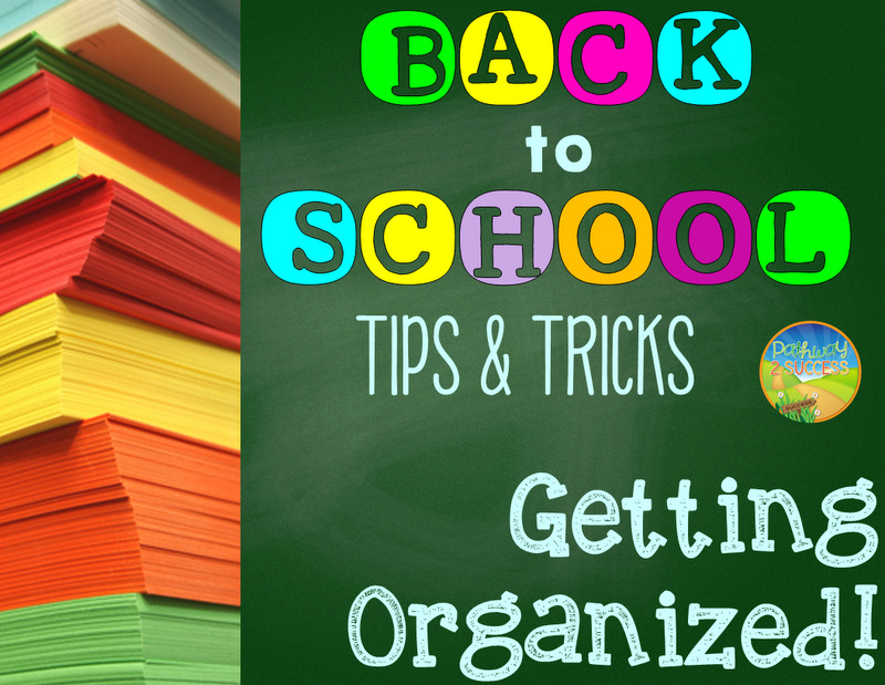 Back to School Planning Getting Organized