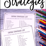 Free coping strategies list to help kids and teens learn to manage their emotions, anxiety, and anger on the spot. Give kids and young adults the skills they need! #copingstrategies #copingskills #pathway2success #mentalhealth #anxiety #mindfulness