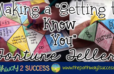 "Making a ""Getting to Know You"" Fortune Teller"
