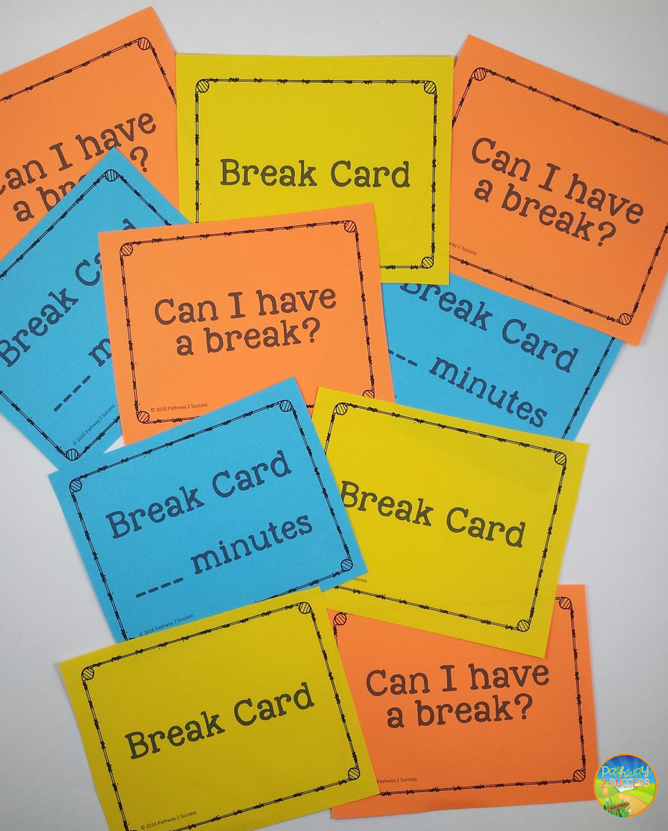 graphic about Break Cards for Students Printable referred to as 50+ Cost-free SEL Components