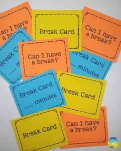 Free Break Cards