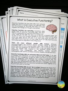 Executive Functioning Free Workbook