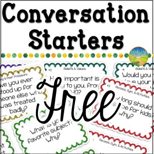 Free conversation starters task cards and more to help kids and young adults with social emotional learning skills. #sel #socialemotionallearning #pathway2success