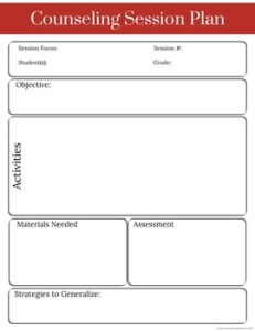 Counseling Planning Forms