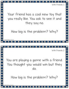 Free How Big Is My Problem Task Cards