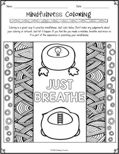 Free Mindfulness Coloring Pages