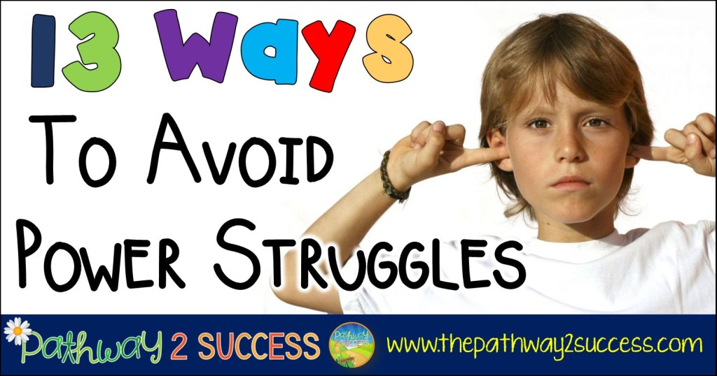 13 ways to avoid power struggles for behavior management with kids and young adults. These are especially helpful tips for kids with oppositional defiant disorder, difficulty managing anger, and more.