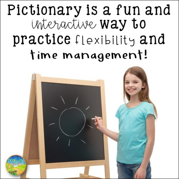 Games that teach executive functioning skills: Pictionary helps practice flexibility and time management