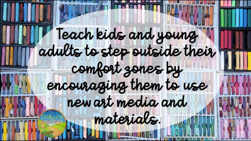 Art therapy strategies and ideas - How to encourage kids to step outside their comfort zone!