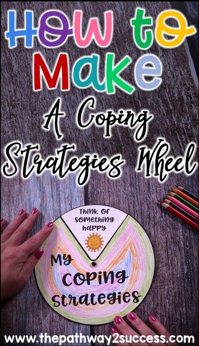 How to create a coping strategies wheel for kid and young adults. A great tool to help kids manage emotions!