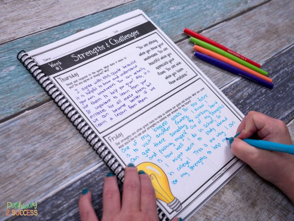 Social Emotional Learning Journal Writing