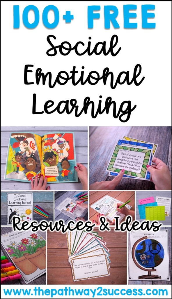 100+ free social emotional learning activities, ideas, and resources to help kids improve confidence, build relationships, develop social skills, and improve responsible decision-making skills. #sel #socialemotionallearning #pathway2success