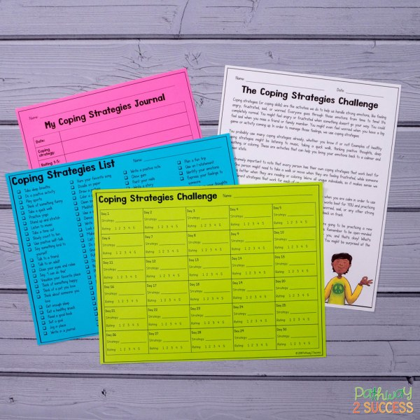 Use this free coping strategies 30-day challenge to introduce new coping strategies to kids and young adults every day for a full month!
